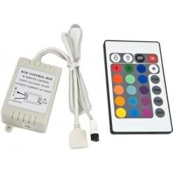 Kontroler RGB 72W (3 x 2A) z pilotem IR (podczerwień)
