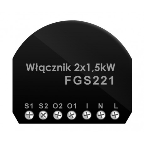 Fibaro On-Off Switch 2x1,5kW