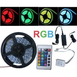 ZESTAW - TAŚMA RGB 300 LED + KONTROLER + PILOT + ZASILACZ