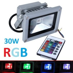 REFLEKTOR - NAŚWIETLACZ LED RGB 30W + PILOT